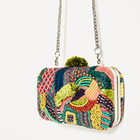 MULTI-COLORED FABRIC MINAUDIERE DETAILS