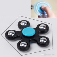 Gyro Finger Spinner Fidget Plastic EDC Hand For Autism/ADHD Anxiety Stress Relief Focus Toys Gift 5 Color hand spinner