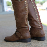 Madden Girl Zip Up Boot {Cognac}