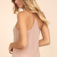 Around the Clock Blush Pink Tank Top