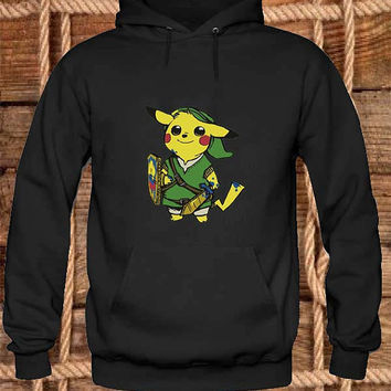 Zelda Pokemon Hoodies Hoodie Sweatshirt Sweater Shirt black white and beauty variant color Unisex size