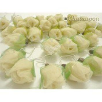 White Roses Flowers String Lights