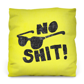 No Shit Outdoor Throw Pillow
