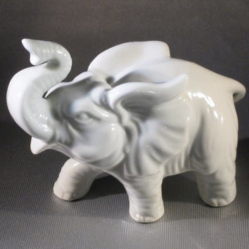 Vintage Porcelain Ceramic ELEPHANT by TOYO 1970s