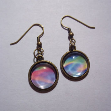 Pastel Holographic Earrings // 90s style earrings
