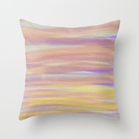 Sun, Sea and Sand Throw Pillow by Linsey Williams Wall Art, Clothing, And