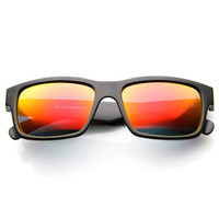 Premium Action Sports Square Mirror Lens Sunglasses 9631