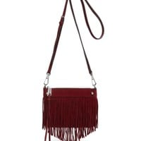 Rebecca Minkoff Suede Mini Fringe Crossbody | Bloomingdales's