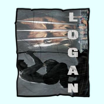 Wolverine Poster Logan Fleece Blanket