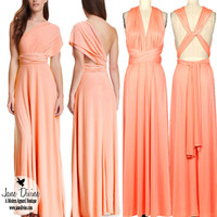 Infinity Wrap Maxi Dress-Peach | Jane Divine Boutique