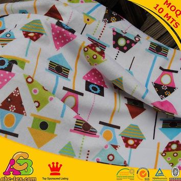 Free shipping Super soft fabric vivid birds nest design digital print minky used for baby  blanket baby pillow baby diaper