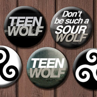 Teen Wolf button set by TheGeekStudio on Etsy
