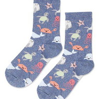 Glitter Under The Sea Socks