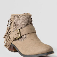 INSIDE GIRL FRINGE BOOTIE