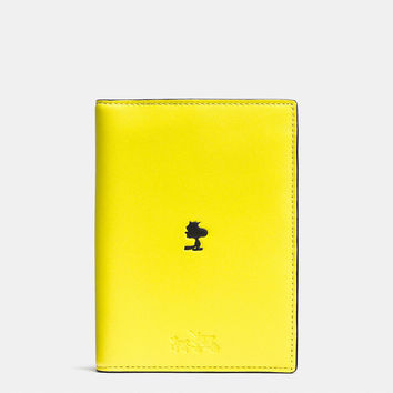 Coach X Peanuts Passport Case in Leather