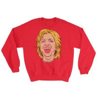 Hillary Faux Ugly Christmas Sweater Sweatshirt