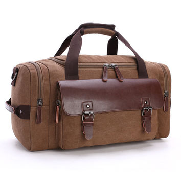 Multifunctional Portable Shoulder Single Travel Bag Large Capacity Men Hand Luggage Travel Duffle Bags Canvas Weekend Bags DB49