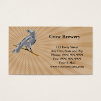 Crow Brewery Business card