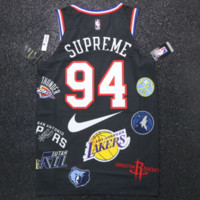 Nike x NBA x Supreme co-branded vest sports casual suit F-Great Me Store black