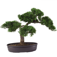 Artificial Cedar Bonsai Tree 16 in