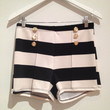 Black and White High-waisted Sailor Shorts