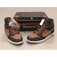 Off-White x LV x Air Jordan 1 With Box