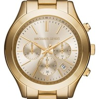 Women's Michael Kors 'Slim Runway' Chronograph Bracelet Watch, 42mm - Gold (Nordstrom Exclusive)