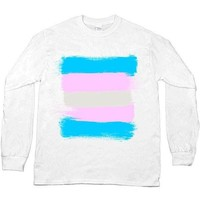 Trans Flag -- Unisex Long-Sleeve