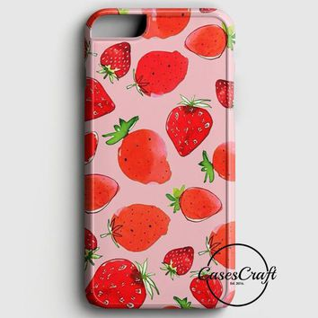 Pink Strawberry Pattern iPhone 8 Case | casescraft