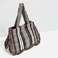 FRINGED TOTE - View all-BAGS-WOMAN | ZARA United Kingdom
