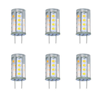 G8 JCD T4 3W LED Capsule Light Bulb 120V Halogen Replacement 27x 2835 - 6 Pack