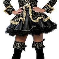 Classic black pirate costumes Halloween party role play female pirate code division uniform temptation = 1945858436