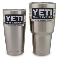 Yeti Rambler Stainless Steel Tumbler With Lid