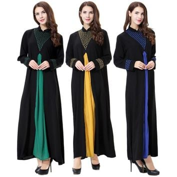 Muslim Dress Long Sleeve Abaya Islamic Dresses Robe Kimono Turkey Instant Hijab Arab Turkish Worship Prayer new