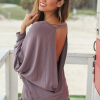 Midnight Oversized Top with Open Back