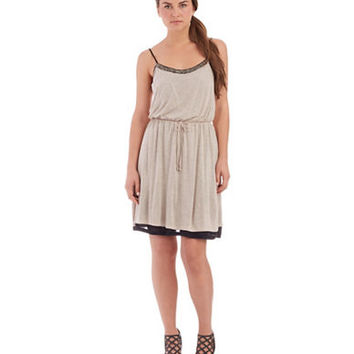 Kensie Bead Accented Blouson Dress