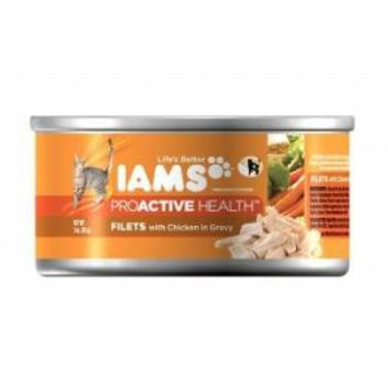 Iams Filets Chicken in Gravy Can Cat Food 3 ounce