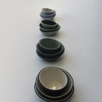 Fifty Percent Off Seconds - Dark Green and Light Green Mini-Bowls