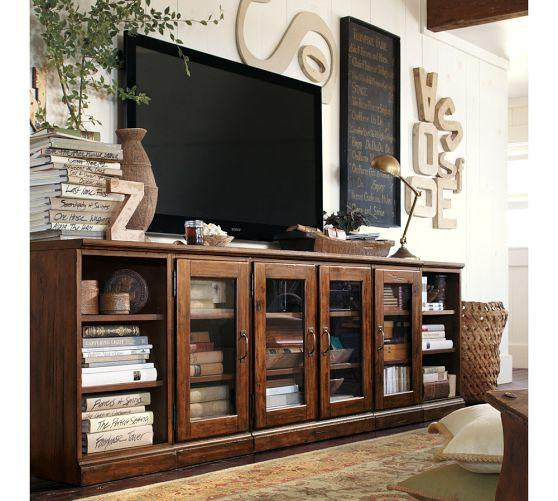 Printer's Long Low Media Suite From Pottery Barn