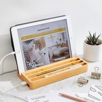 Kikkerland Design Wood Charging Station | Urban Outfitters