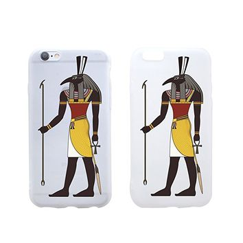 Egyptian God Seth Rubber Jelly Matt White Plastic Phone Case for Iphone_ SUPERTRAMPshop (VAS1422, iphone X)