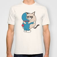 Cat Hugs T-shirt by Huebucket