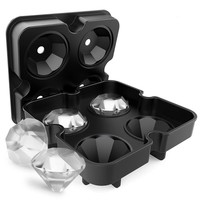 Diamond-Shaped Ice Cube Tray Silicone Easy Release, 1 Pack