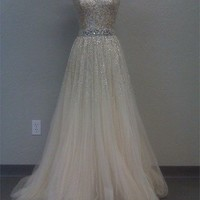 2013 Cheap Gorgeous Sweetheart A-line Tulle Prom Dresses with Sequins