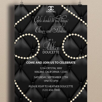 Instant Download Coco Chanel Black From Doucettedesign On Etsy