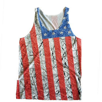 American Flag Tank Top, Star Tank Top, 4th Of July Tank Top, USA Tank Top, Unisex Tank Top, Mens Tank Top, Country Tank, Concert Tank,