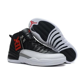 Air Jordan 12 Retro XII AJ12 White/Black Basketball Shoes Size US8-12