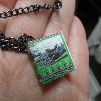 The Hobbit Miniature Book Pendant Necklace by myevilfriend on Etsy