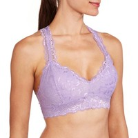 No Boundaries Lace Racerback Bra With Removeable Cups - Walmart.com