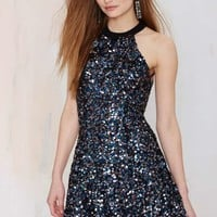 Dress the Population Anni Sequin Dress - Blue